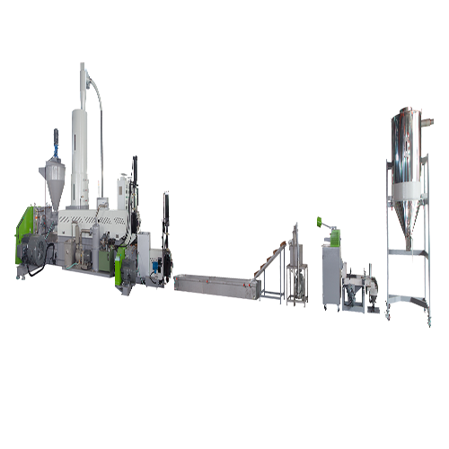 Side Entrance Two Stages Spaghetti Cutting Recycling & Pelletizing Machine