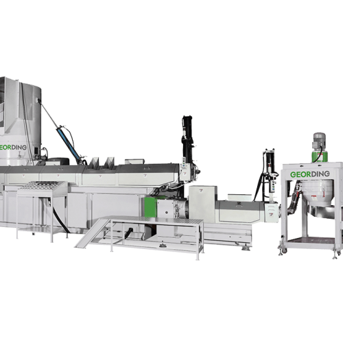 3IN1 Two Stages Die-Face Cutting Recycling & Pelletizing Machine