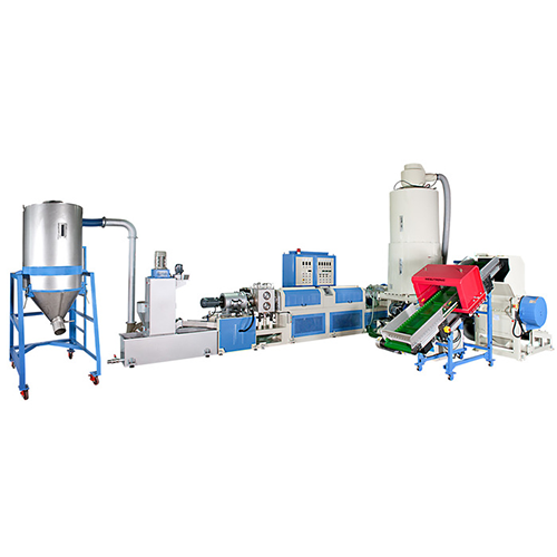TWO STAGE SIDE FEEDING & DIE FACE CUTTING PLASTIC RECYCLING & PELLETIZING MACHINE
