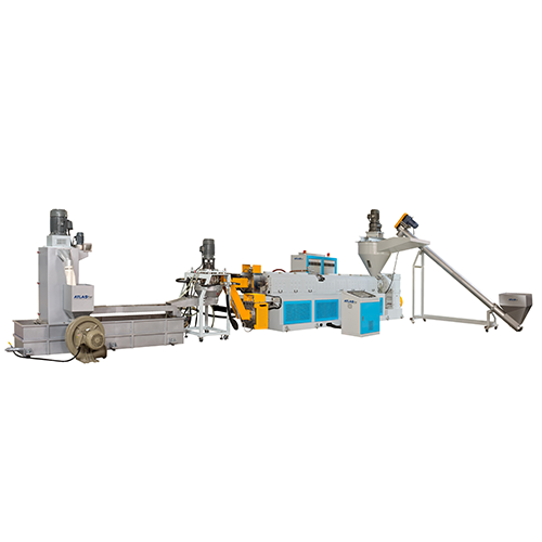 HOPPER FEEDING & DIE FACE CUTTING PLASTIC RECYCLING & PELLETIZING MACHINE
