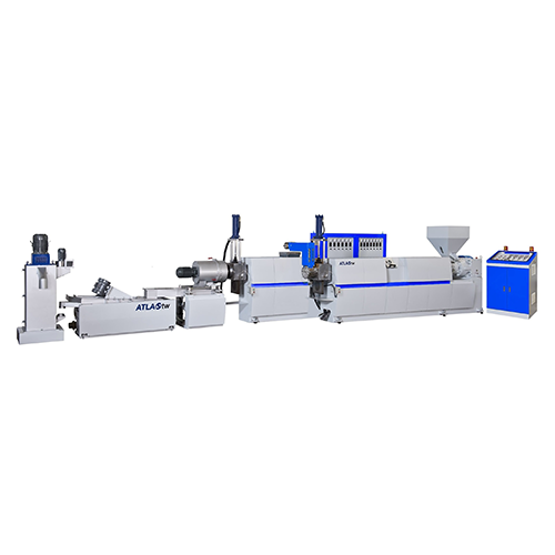 TWO STAGE HOPPER FEEDING & DIE FACE CUTTING PLASTIC RECYCLING & PELLETIZING MACHINE