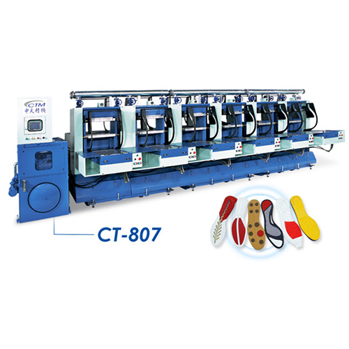Semi Auto Rubber Outsole Molding Press - CT-807