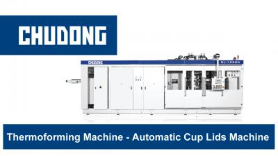 Plastic Continuous Thermoforming Machine - Automatic Cup Lids Machine | CHUDONG